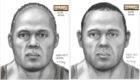 2D reconstruction, Snohomish Co. WA. Subject is mixture of African and European-derived ancestry. Cold case detectives asked for two drawings, each concentrating on the different ancestry. He had diastemata in the central and lateral incisors of his mandibular teeth, so a detail of the teeth was included in the sketch. This victim has been IDed as Rodney Peter Johnson.
