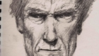 Graphite Clint Eastwood from sketchbook.