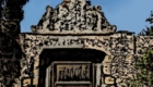 A mission gate in Santa Barbara. Edited with woodcut effect and cleaned up superfluous details.