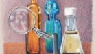 Colored pencil still life drawing.