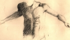 Graphite sketch of torso.