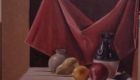 Still life oil painting.