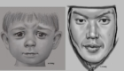 Digital portraits, small boy and adult man. Young boy done in Procreate, adult man done in Painter.